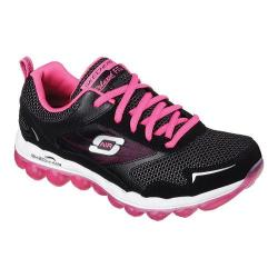 Women's Skechers Relaxed Fit Skech-Air Training Shoe Black/Hot Pink
