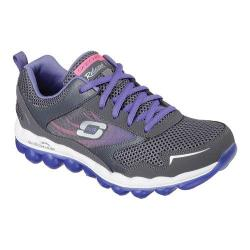 Women's Skechers Relaxed Fit Skech-Air Training Shoe Charcoal/Purple