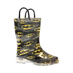 Boys' Western Chief Batman Signal Night Lighted Rain Boot Black