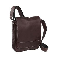 David King Leather 8471 Deluxe Medium Size Flap Over Messenger Cafe