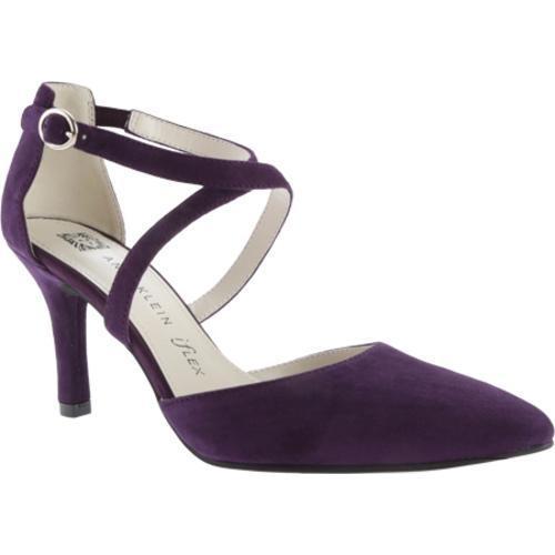 Women&39s Anne Klein Fion Heel Dark Purple/Dark Purple Suede - Free