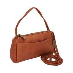 Women's David King Leather 501 Top Zip Mini Bag Tan