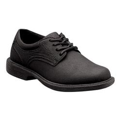 Boys' Nunn Bush Baker St. Jr. 87032 Plain Toe Oxford Black Suede