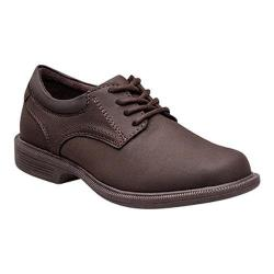 Boys' Nunn Bush Baker St. Jr. 87032 Plain Toe Oxford Brown Suede