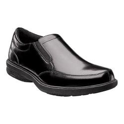 Men's Nunn Bush Madison St. Moc-Toe Slip-On Black Leather