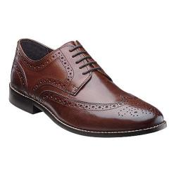 Men's Nunn Bush Nelson 84525 Wing Tip Oxford Brown Leather