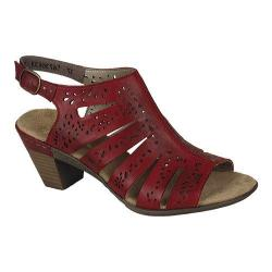 Women's Rieker-Antistress Aileen 66 Sandal Rosso Leather