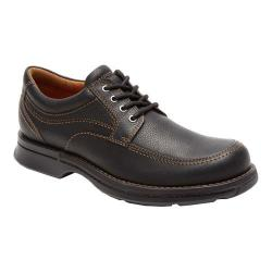 Men's Rockport Classics Revised Moc Toe Black Tumbled Pull Up Leather