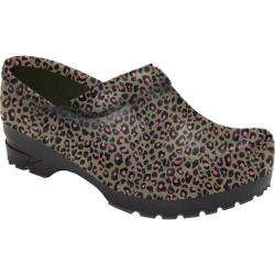 Women's AnyWear Angel Slip Resistant Clog Cheetah Chic
