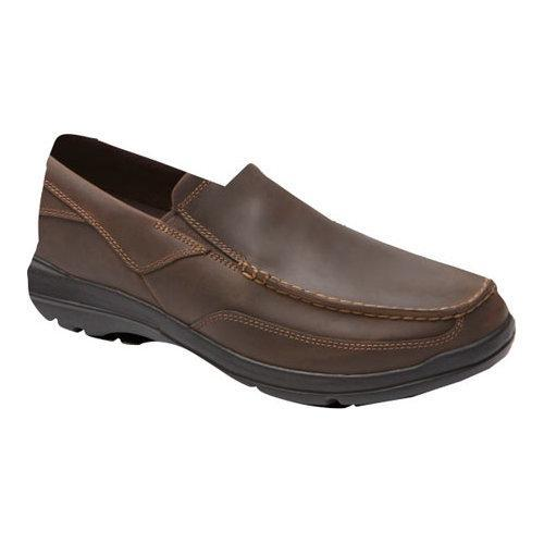 Men's Rockport City Play Two Slip On Dark Brown Leather