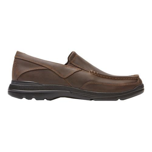 Men's Rockport City Play Two Slip On Dark Brown Leather - Thumbnail 1