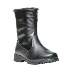 Women's Propet Madison Leather Mid Calf Boot Black Leather