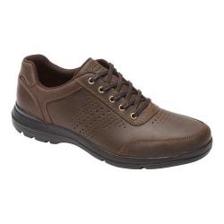 Men's Rockport City Play Two Perf Ubal Dark Brown Leather