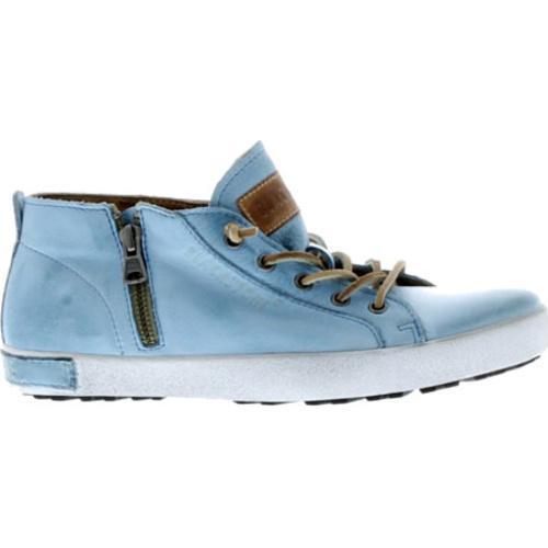 ... Women's Blackstone JL24 Low Rise Zipper Sneaker Sky Blue Full  Grain Leather ...