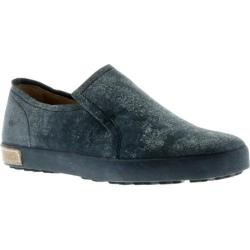 Women's Blackstone JL04 Slip On Sneaker Black Metallic Full Grain Leather