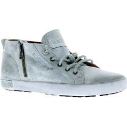 Women's Blackstone JL17 Zipper Sneaker White Metallic Full Grain Leather