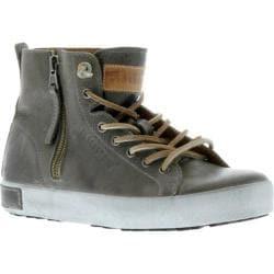 Women's Blackstone JL18 High Top Zipper Sneaker Charcoal Full Grain Leather