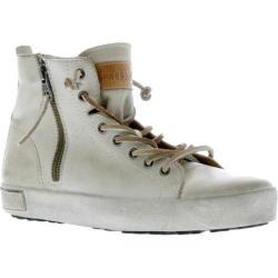 Women's Blackstone JL18 High Top Zipper Sneaker Stone Full Grain Leather