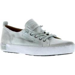 Women's Blackstone JL20 Leather Sneaker White Metallic Full Grain Leather