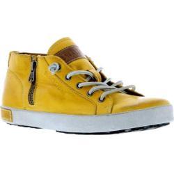 Women's Blackstone JL24 Low Rise Zipper Sneaker Butterscotch Full Grain Leather