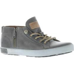 Women's Blackstone JL24 Low Rise Zipper Sneaker Charcoal Full Grain Leather