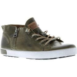 Women's Blackstone JL24 Low Rise Zipper Sneaker Olive Full Grain Leather