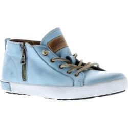 Women's Blackstone JL24 Low Rise Zipper Sneaker Sky Blue Full Grain Leather