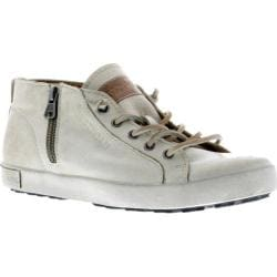 Women's Blackstone JL24 Low Rise Zipper Sneaker Stone Full Grain Leather