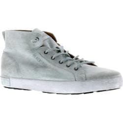 Men's Blackstone JM02 Mid Rise Sneaker White Metallic Full Grain Leather