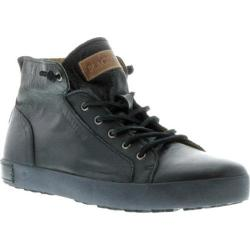 Men's Blackstone JM03 Mid Rise Sneaker Black Full Grain Leather