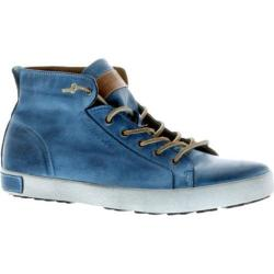 Men's Blackstone JM03 Mid Rise Sneaker Light Indigo Full Grain Leather