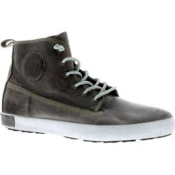 Men's Blackstone JM04 High Top Sneaker Charcoal Full Grain Leather