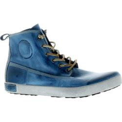 Men's Blackstone JM04 High Top Sneaker Light Indigo Full Grain Leather