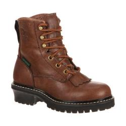 Children's Georgia Boot GB00001 Youth 5in Logger Brown Goat Skin