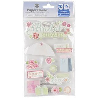 Paper House 3-D Sticker-Bridal Shower