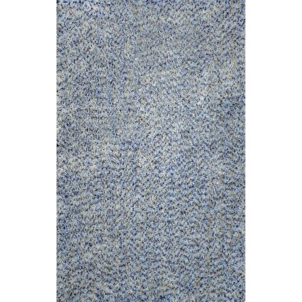 nuLOOM Hand-tufted Shag Synthetics Blue Rug (5' x 8')