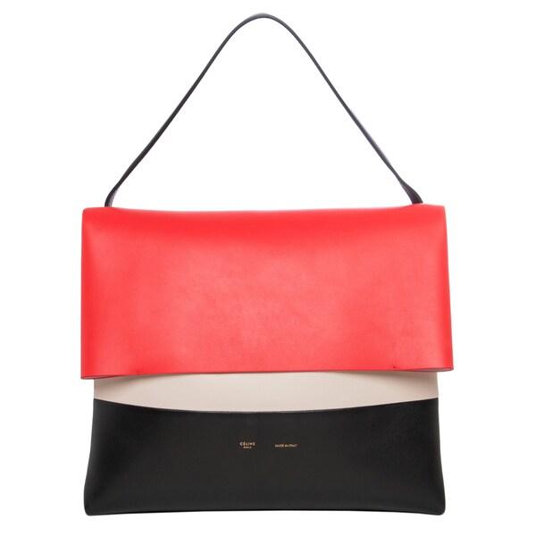 Celine 'All Soft' Colorblocked Leather Shoulder Bag