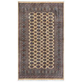 Herat Oriental Pakistani Hand-knotted Bokhara Wool Rug (4'11 x 8'4)
