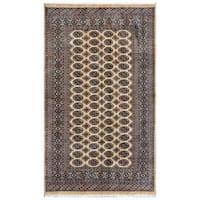 Herat Oriental Pakistani Hand-knotted Bokhara Wool Rug - 4'11 x 8'4