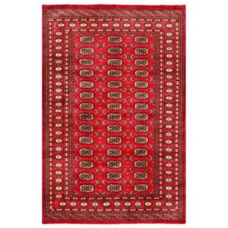 Herat Oriental Pakistani Hand-knotted Bokhara Red/ Ivory Wool Rug (4'2 x 6'4)