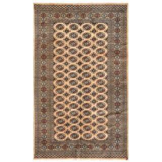 Herat Oriental Pakistani Hand-knotted Bokhara Wool Rug (5' x 8'1)
