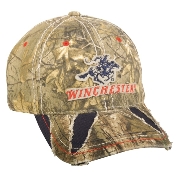 Winchester Distressed Camo Adjustable Hat