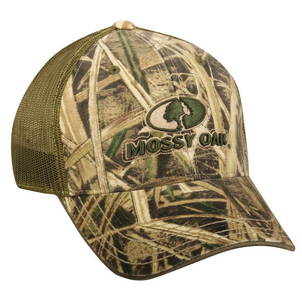 Mossy Oak Grass Camo Adjustable Hat