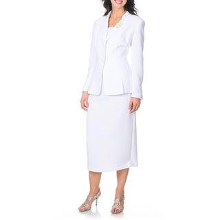 Giovanna Signature Women's Shawl Collar 2-piece Skirt Suit