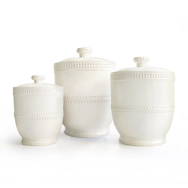 Bianca Bead 3 Piece Canister Set Free Shipping Today