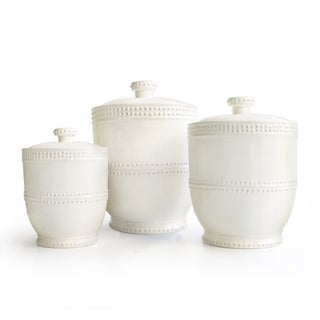 Bianca Bead 3-piece Canister Set