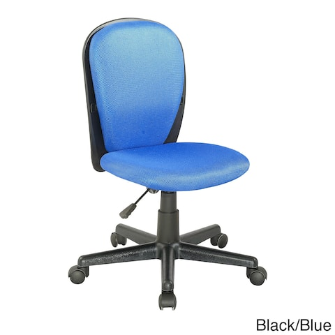 Somette Two-tone Fabric-covered Youth Desk Chair