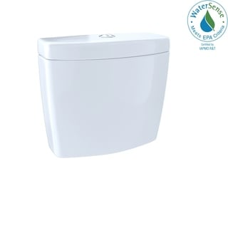 Toto Cotton White Aquia Dual Flush Toilet Tank