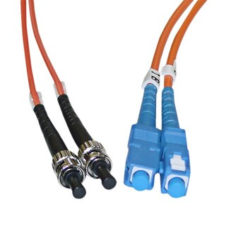 Offex SC / ST 62.5/125 Multimode Duplex Fiber Optic Cable