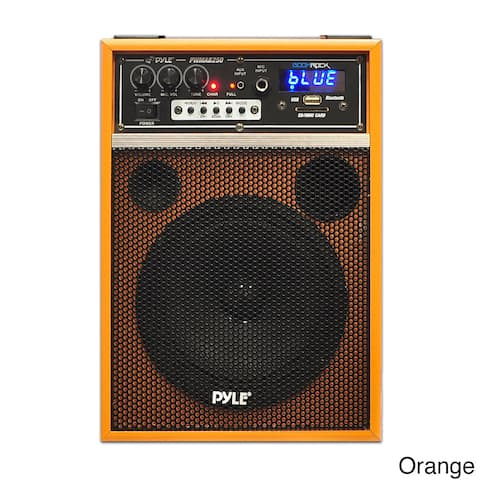 Pyle Boom Rock 300W Built-in Rechargeable Battery Bluetooth 6.5-inch Portable PA Speaker System
